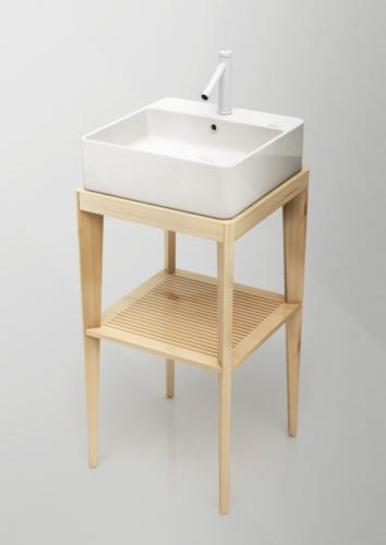 Wooden Legs Square Cabinet Natural